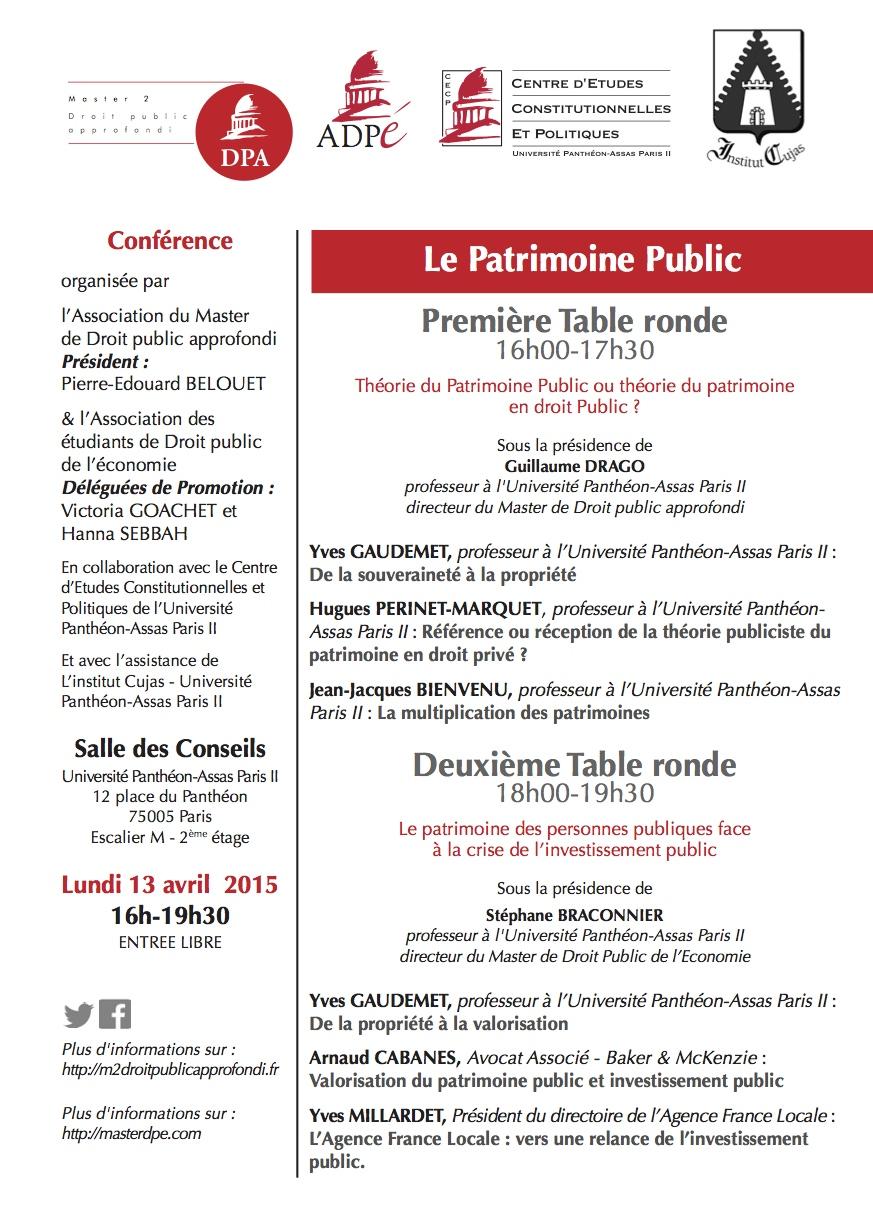13 avril - Conférence